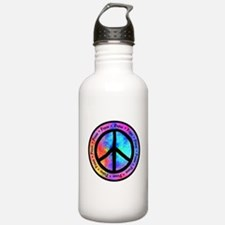 Distorted Peace Sign Water Bottle