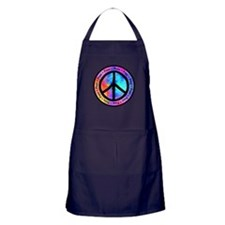 Distorted Peace Sign Apron (dark)
