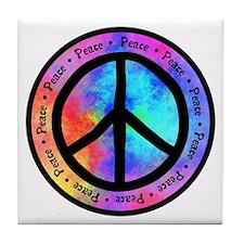 Peace Sign Tile Coaster