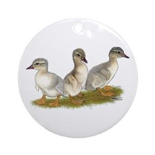 Saxony Ducklings Ornament (Round)