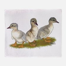 Saxony Ducklings Throw Blanket