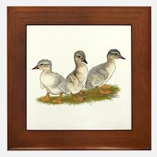 Saxony Ducklings Framed Tile