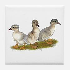 Saxony Ducklings Tile Coaster