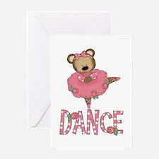 BALLERINA BEAR Greeting Card