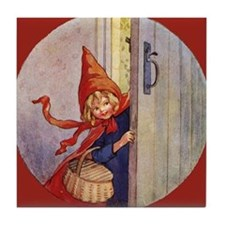Tarrant's Red Riding Hood Tile Coaster