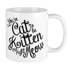 Youve cat to be kitten me right meow Small Mug
