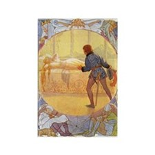 Tarrant's Sleeping Beauty Rectangle Magnet (10 pac