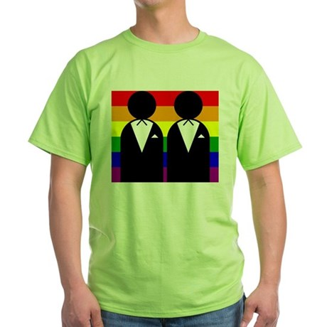 Two Grooms Green T-Shirt