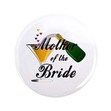 "mother of bride black.png 3.5"" Button"