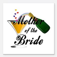 mother of bride black.png Square Car Magnet 3&quot