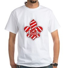 Candy Cane Fleur de lis Shirt