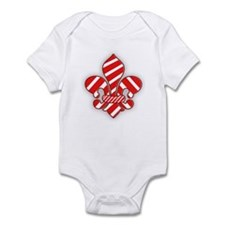 Candy Cane Fleur de lis Infant Bodysuit