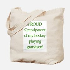Proud of grandson Tote Bag