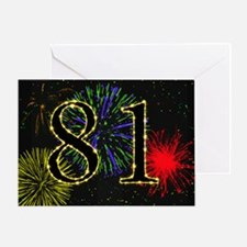 81st birthday party fireworks Greeting Card