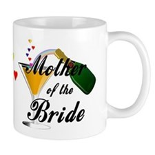 mother of bride black.png Small Mug