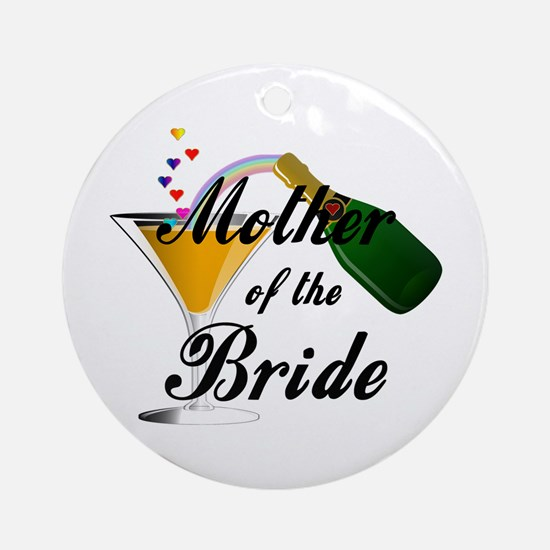 mother of bride black.png Ornament (Round)