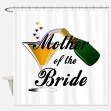 mother of bride black.png Shower Curtain