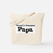 World's Greatest: Papa Tote Bag