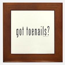 Got Toenails? Framed Tile