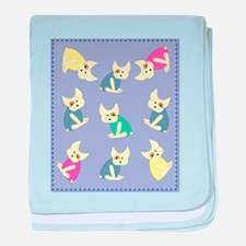 french bulldogs baby blanket