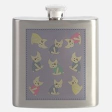 french bulldogs Flask