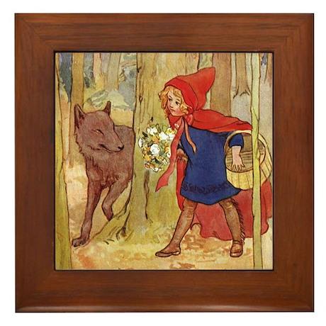 Tarrant's Red Riding Hood Framed Tile