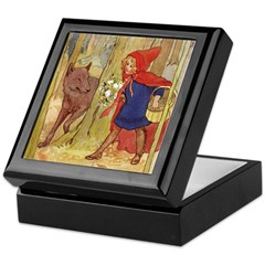 Tarrant's Red Riding Hood Keepsake Box