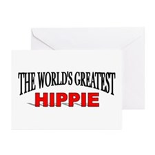 """The World's Greatest Hippie"" Greeting Cards (Pack"