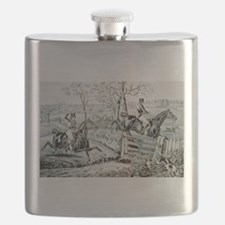 Fox chase - In full cry - 1846 Flask