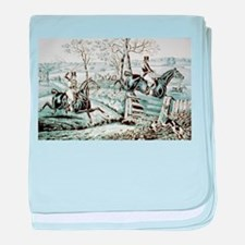 Fox chase - In full cry - 1846 baby blanket