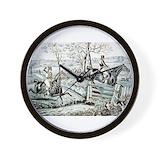 Fox hunting Wall Clocks
