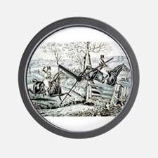 Fox chase - In full cry - 1846 Wall Clock