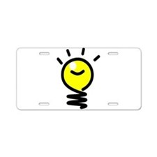 Bright Idea Light Bulb Aluminum License Plate