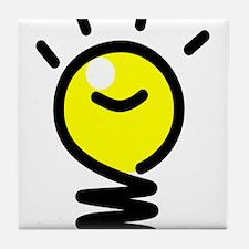 Bright Idea Light Bulb Tile Coaster