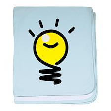 Bright Idea Light Bulb baby blanket