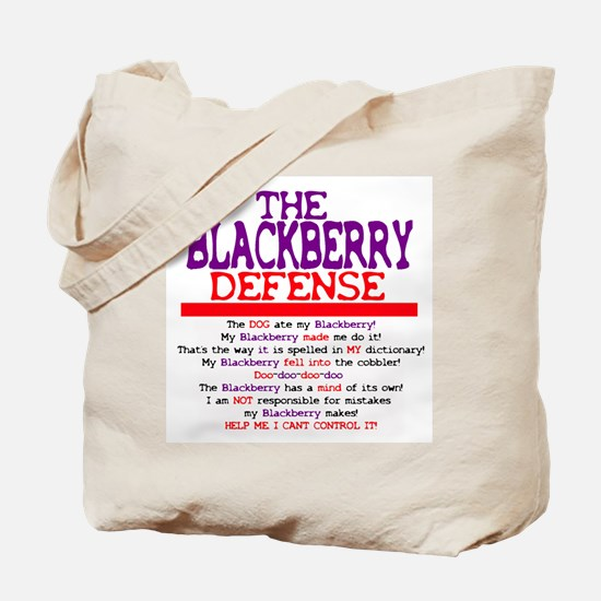 The Blackberry Defense Tote Bag