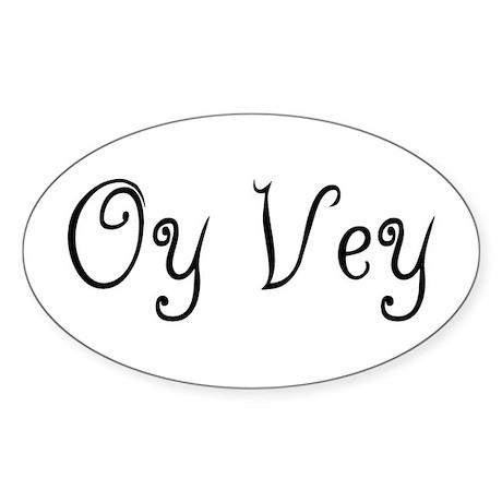 Oy Vey Oval Sticker