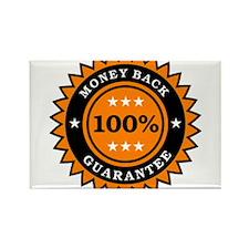 100 Percent Money Back Guarantee Rectangle Magnet