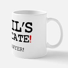 DEVILS ADVOCATE - BENT LAWYER! Small Mug