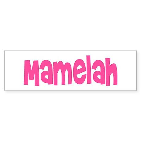 Pink Mamelah Bumper Sticker