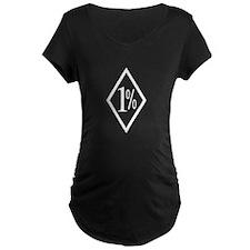 Outlaw Biker Black and White 1%er T-Shirt