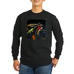 Large Koi Long Sleeve Dark T-Shirt