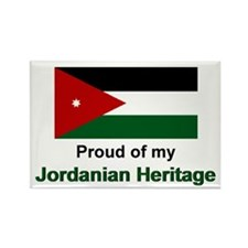 Jordanian Heritage Rectangle Magnet