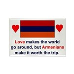 Armenian Love Rectangle Magnet