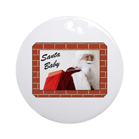Santa Baby Christmas Ornament (Round)
