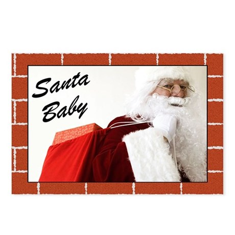 Santa Baby Christmas Postcards (Package of 8)