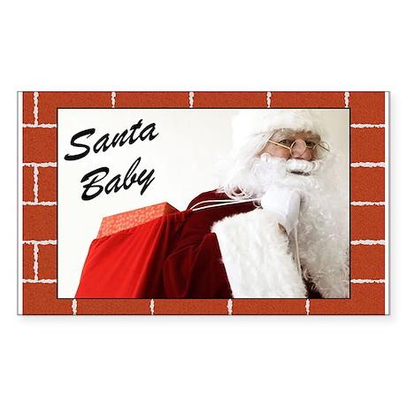 Santa Baby Christmas Rectangle Sticker