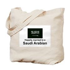 Happily Married To Saudi Tote Bag