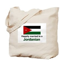 Happily Married To A Jordanian Tote Bag