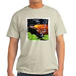 Red Koi Rising Ash Grey T-Shirt